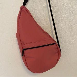 LL Bean AmeriBag Healthy Back Sling Backpack Pink